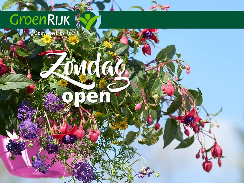 Iedere zondag koopzondag bij ons tuincentrum nabij Tiel